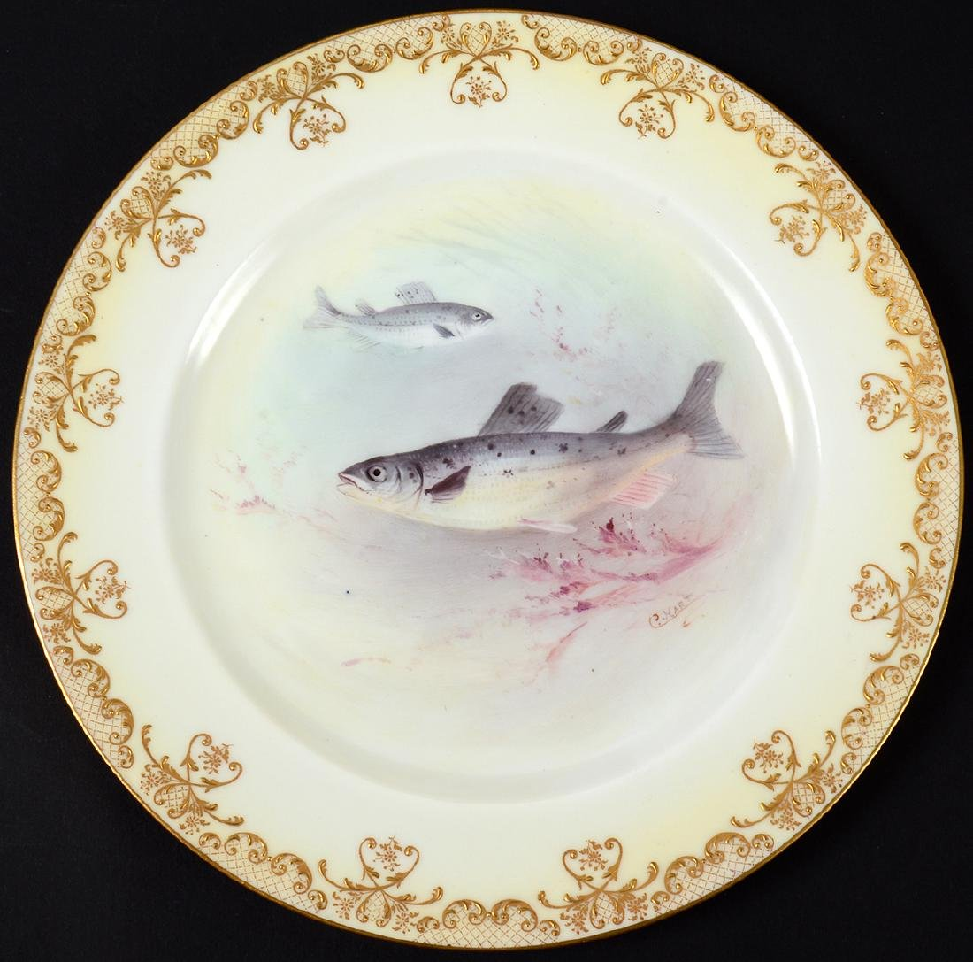SET OF TEN ROYAL DOULTON PORCELAIN FISH PLATES - 8