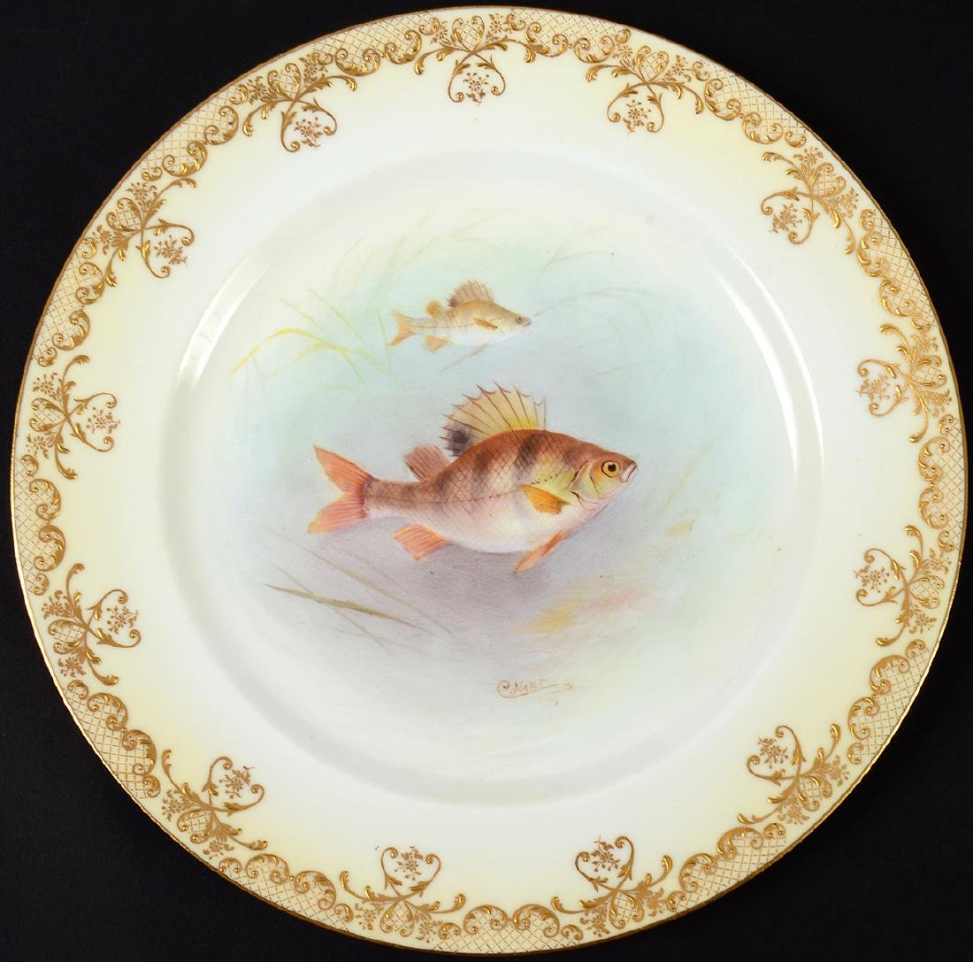 SET OF TEN ROYAL DOULTON PORCELAIN FISH PLATES - 9