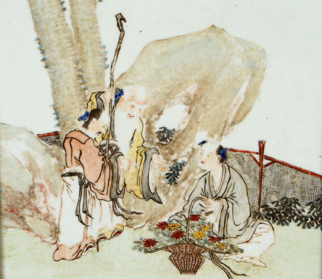 CHINESE ENAMEL DECORATED PORCELAIN PLAQUE - 2