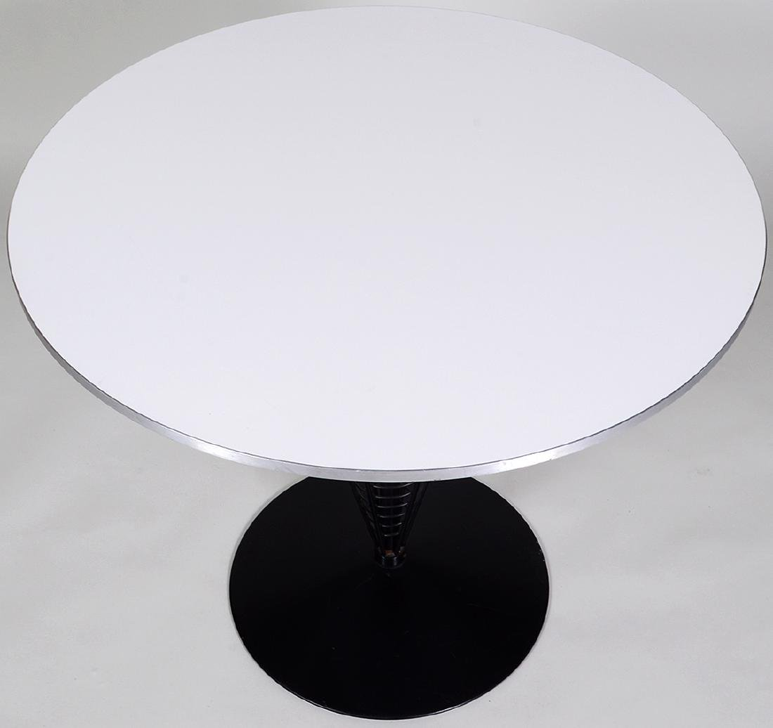 MID-CENTURY FORMICA TOP & EBONIZED METAL CAFE TABLE - 2