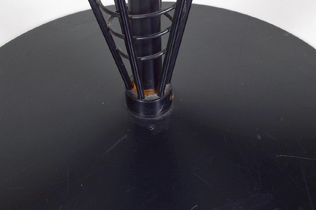MID-CENTURY FORMICA TOP & EBONIZED METAL CAFE TABLE - 3