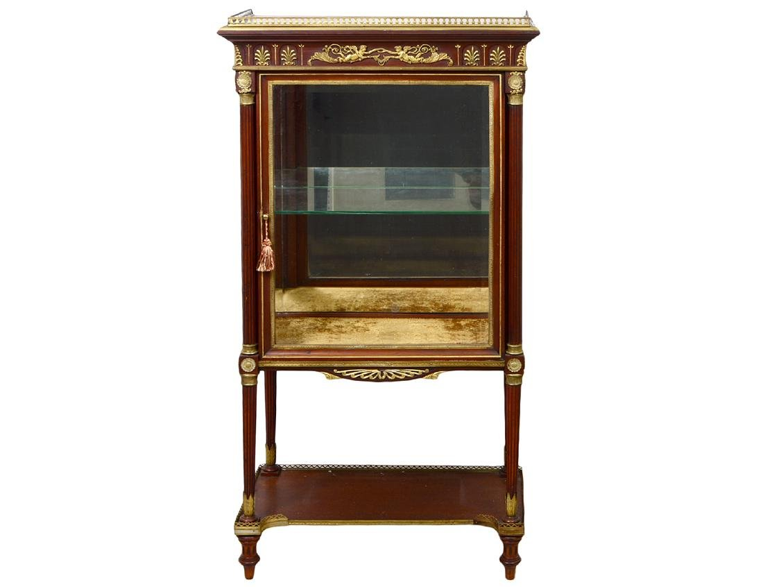 EMPIRE STYLE GILT BRONZE MOUNTED MAHOGANY CABINET