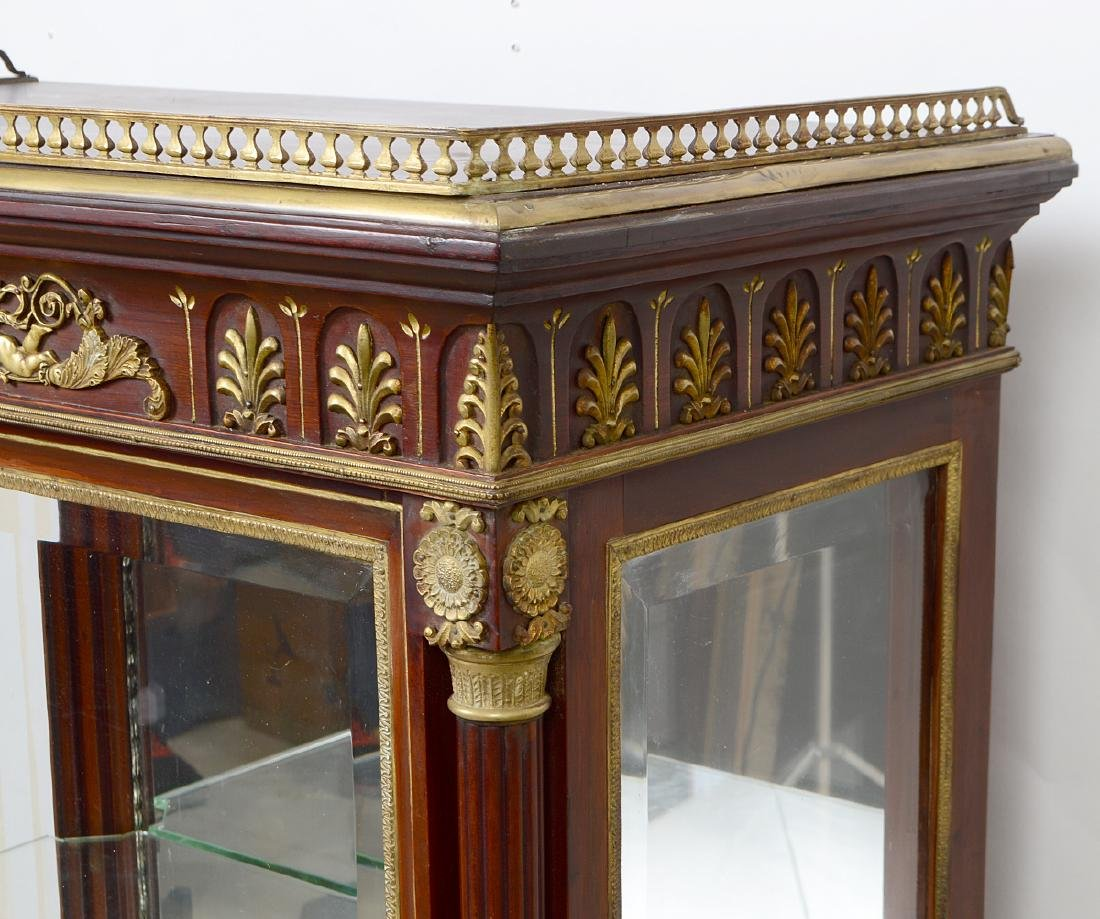 EMPIRE STYLE GILT BRONZE MOUNTED MAHOGANY CABINET - 5