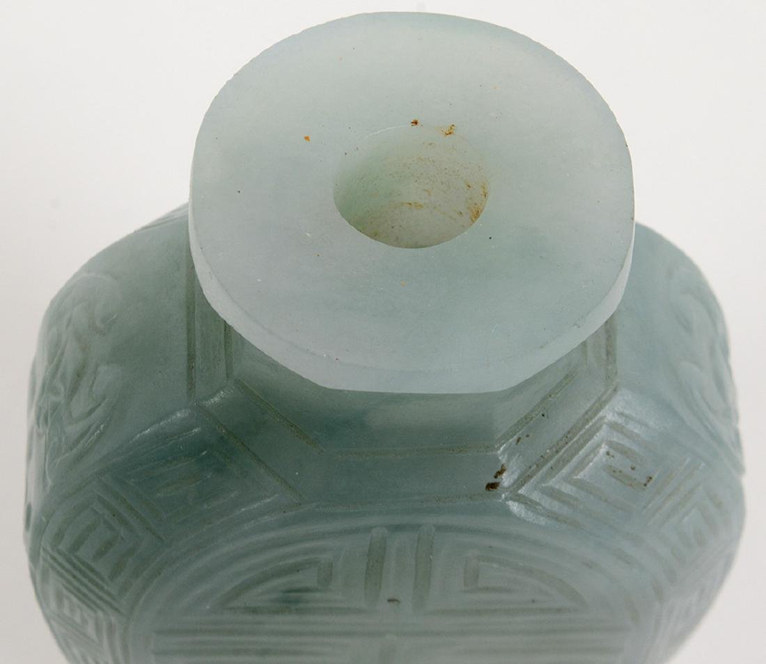 CHINESE IMPERIAL INCISED JADEITE SNUFF BOTTLE - 7