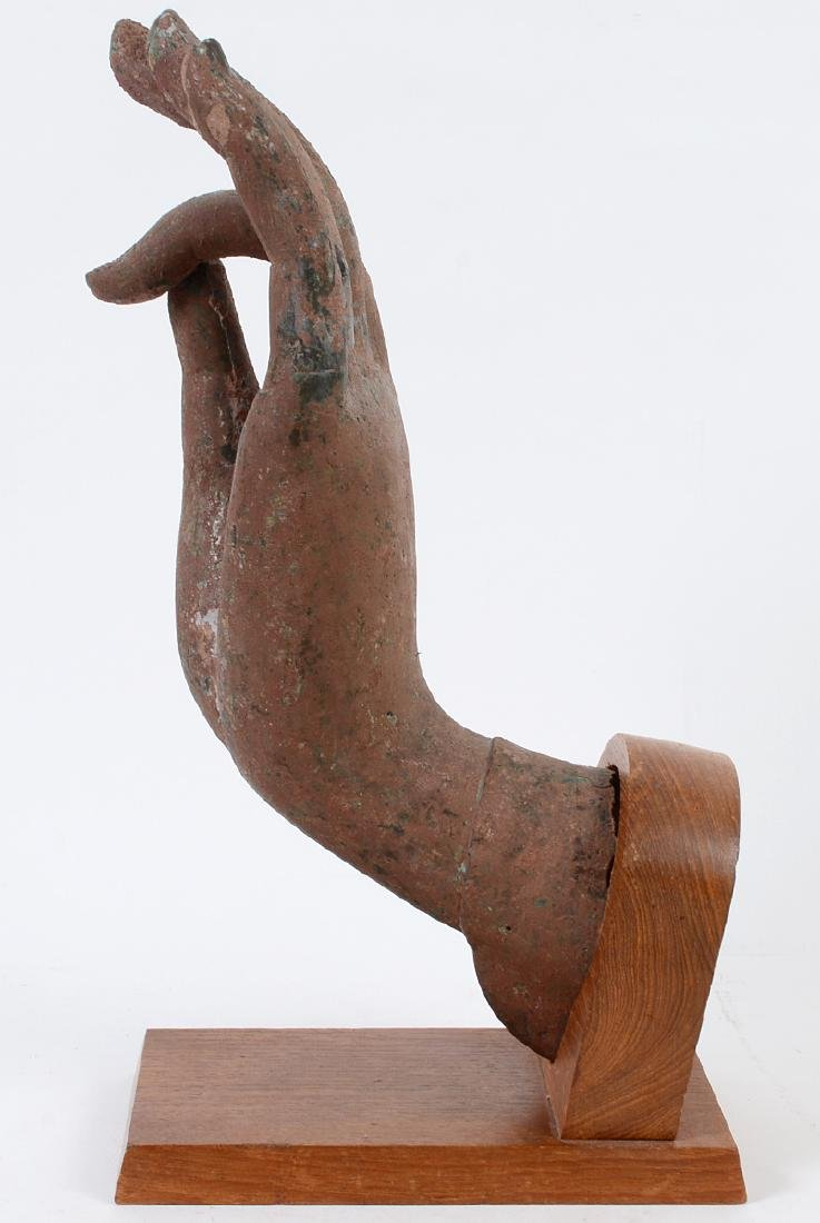 SOUTHEAST ASIAN PAINTED METAL HAND - 6