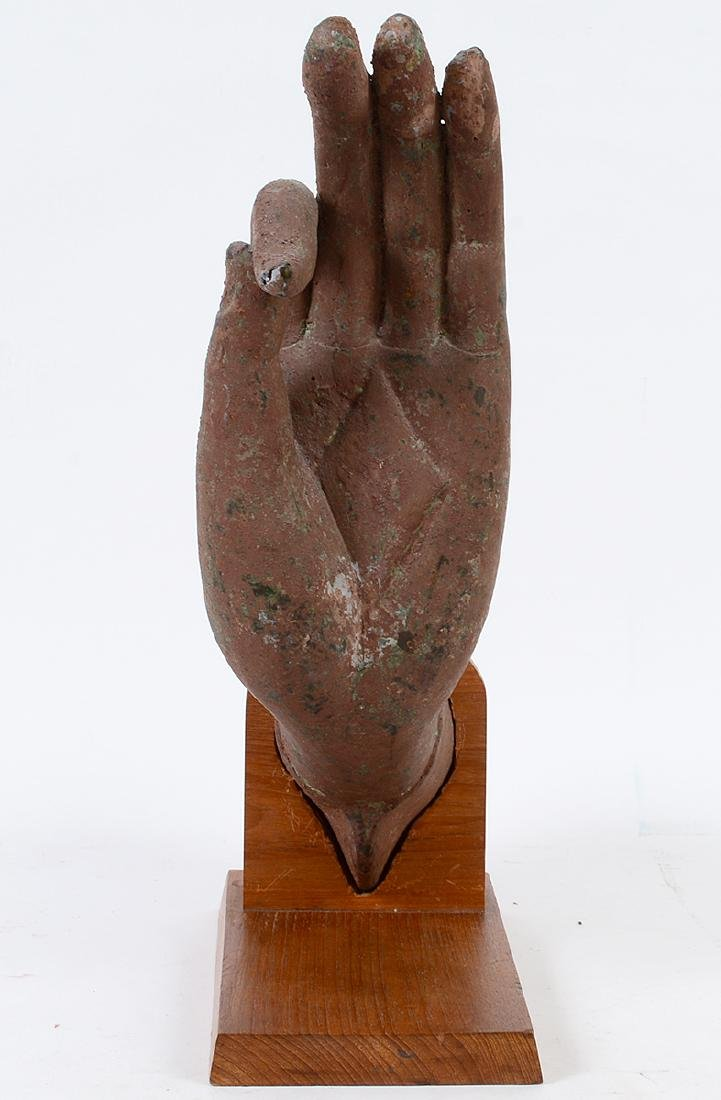 SOUTHEAST ASIAN PAINTED METAL HAND - 7