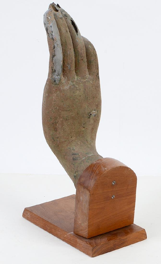 SOUTHEAST ASIAN PAINTED METAL HAND - 2