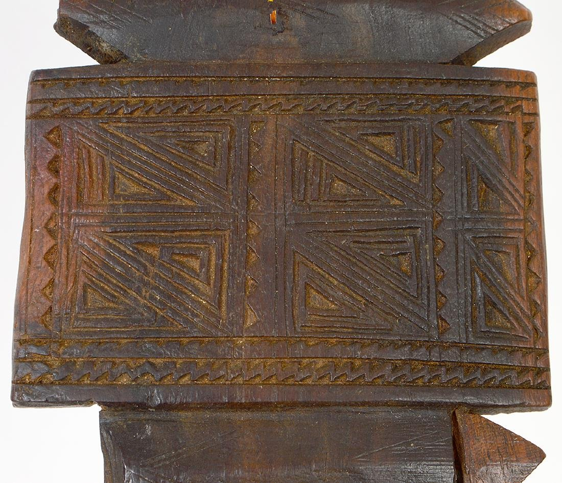 AFRICAN CARVED WOOD TENT POST - 4