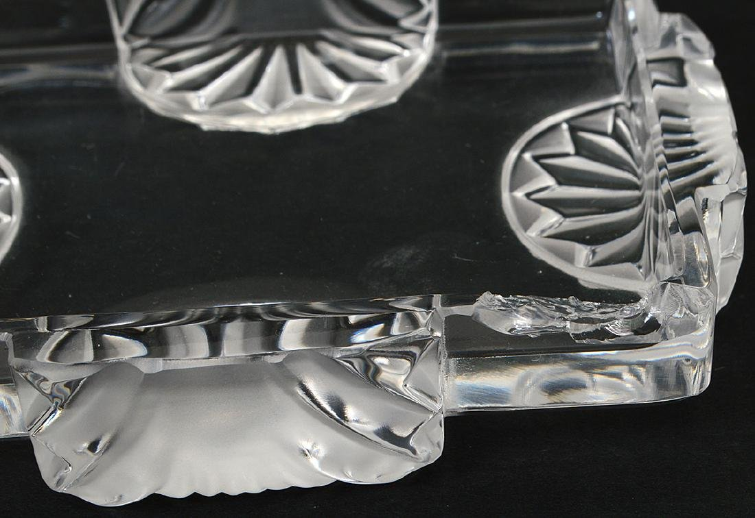 FOUR LALIQUE AND BACCARAT GLASS TABLE ITEMS - 3
