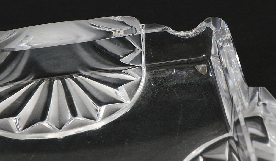 FOUR LALIQUE AND BACCARAT GLASS TABLE ITEMS - 4