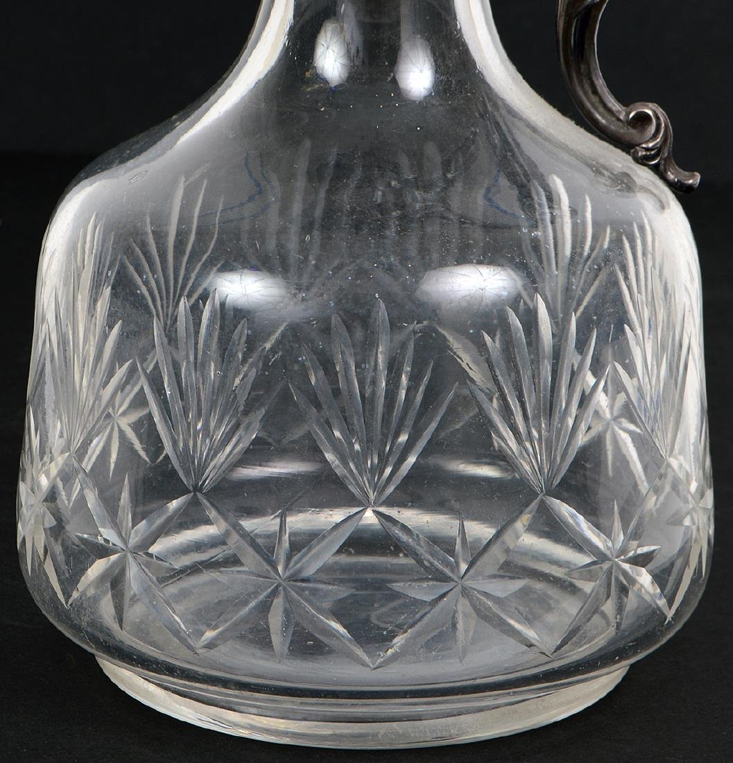 CONTINENTAL SILVER PLATE MOUNTED GLASS CLARET - 2