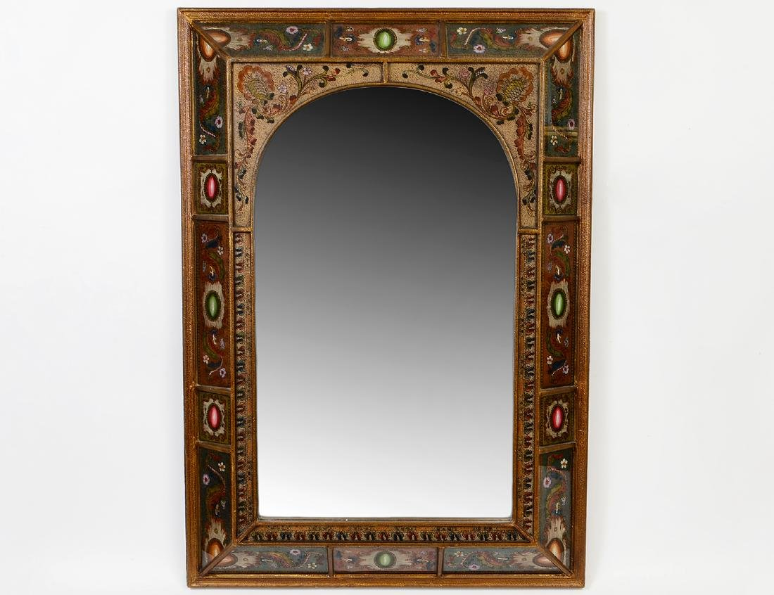 CONTINENTAL FAUX EGLOMISE MIRROR