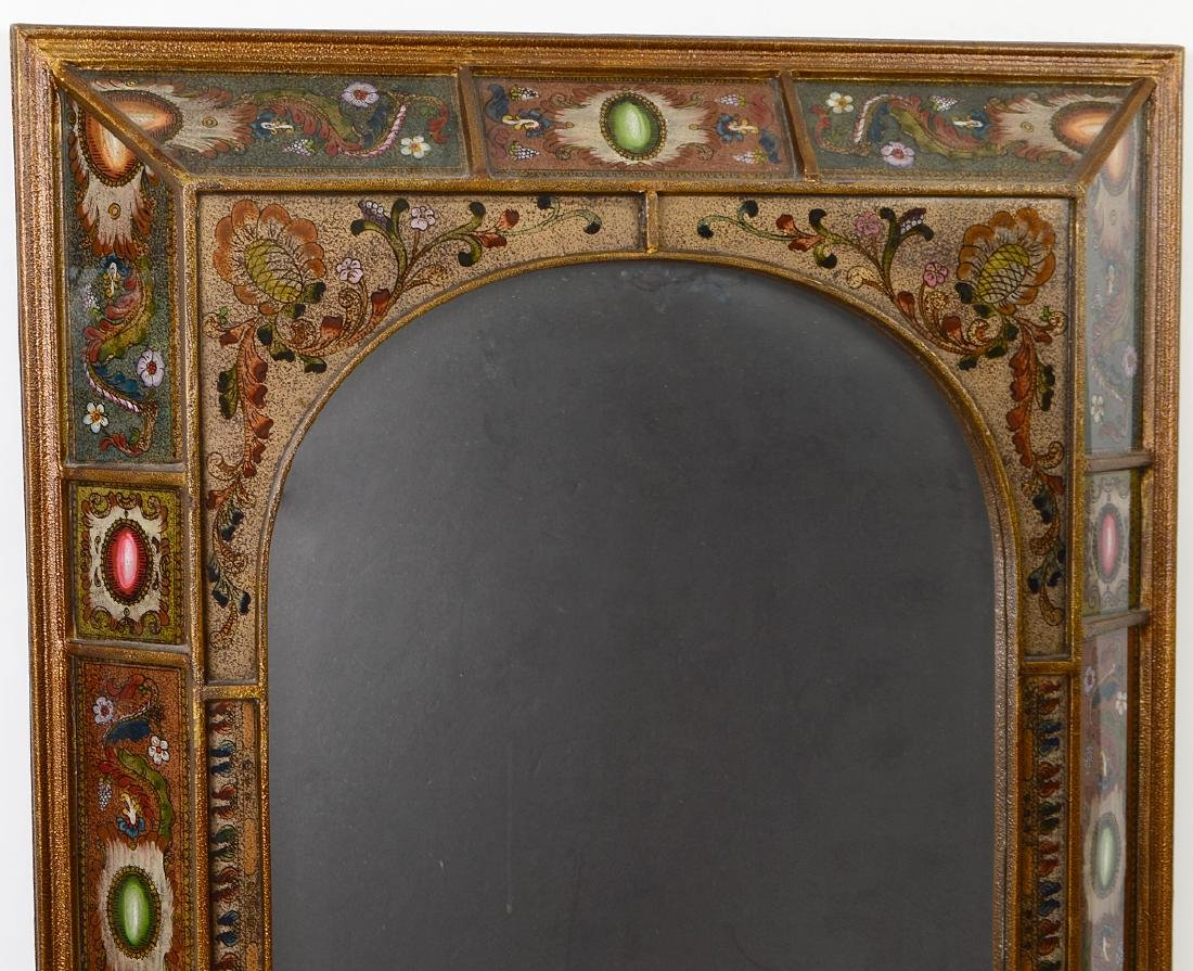 CONTINENTAL FAUX EGLOMISE MIRROR - 2