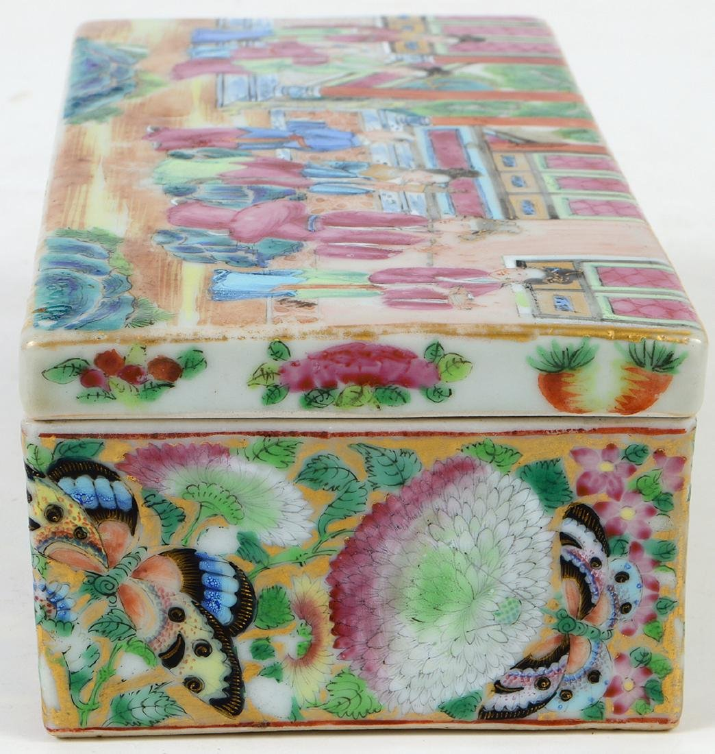 CHINESE FAMILLE ROSE PORCELAIN LIDDED BOX - 6