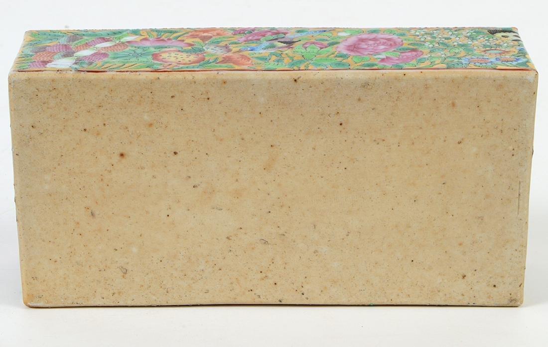 CHINESE FAMILLE ROSE PORCELAIN LIDDED BOX - 9