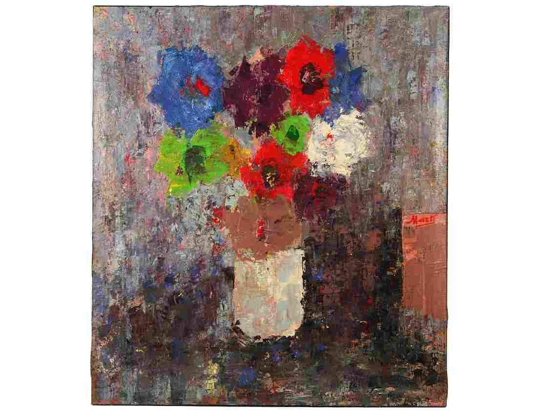 LARGE 20th CENTURY OIL ON CANVAS PAINTING