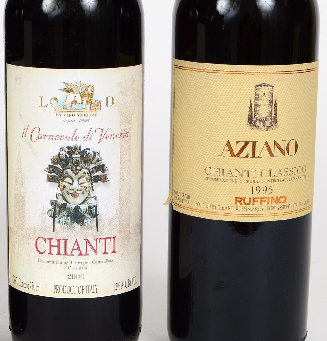 FIVE BOTTLES OF ITALIAN CHIANTI - 2