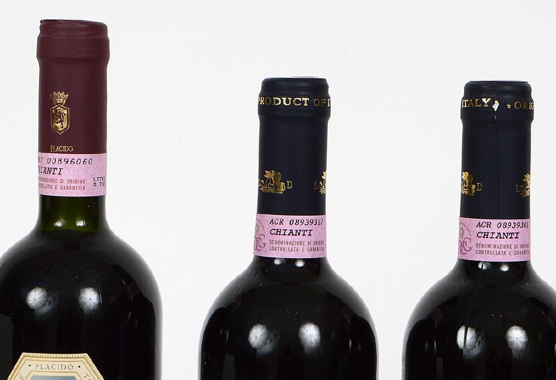 FIVE BOTTLES OF ITALIAN CHIANTI - 4