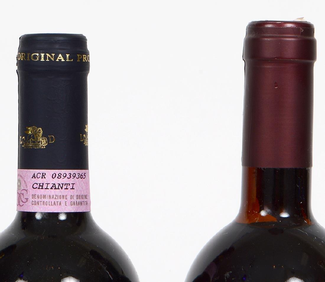 FIVE BOTTLES OF ITALIAN CHIANTI - 5