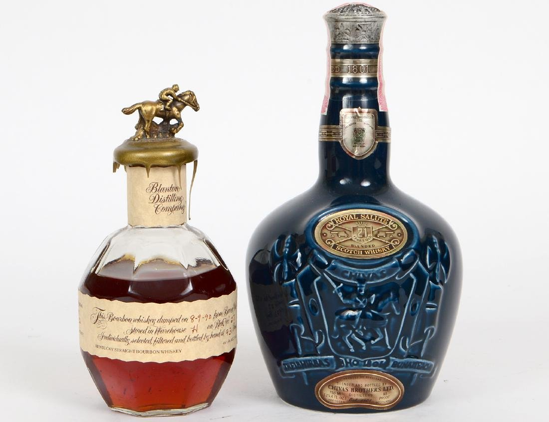 BLANTON KENTUCKY BOURBON & CHIVAS ROYAL SALUTE SCOTCH