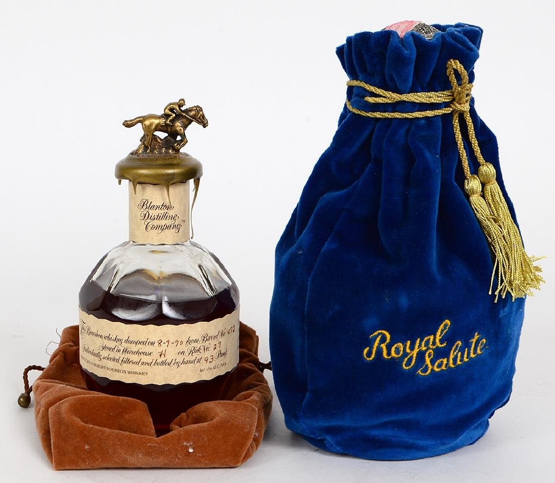 BLANTON KENTUCKY BOURBON & CHIVAS ROYAL SALUTE SCOTCH - 5