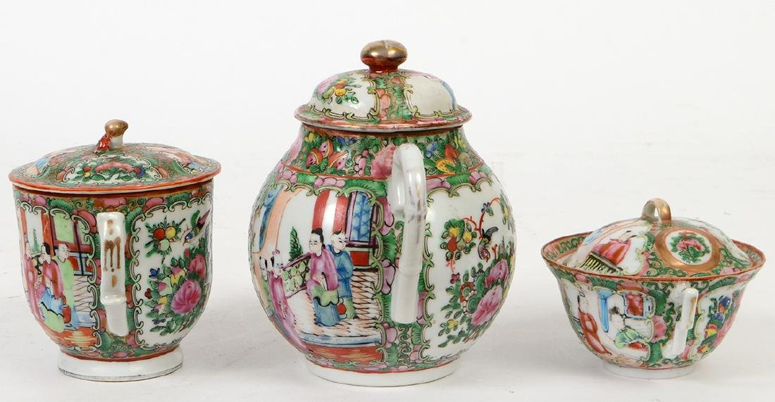 SIX CHINESE EXPORT PORCELAIN TABLE ITEMS - 8