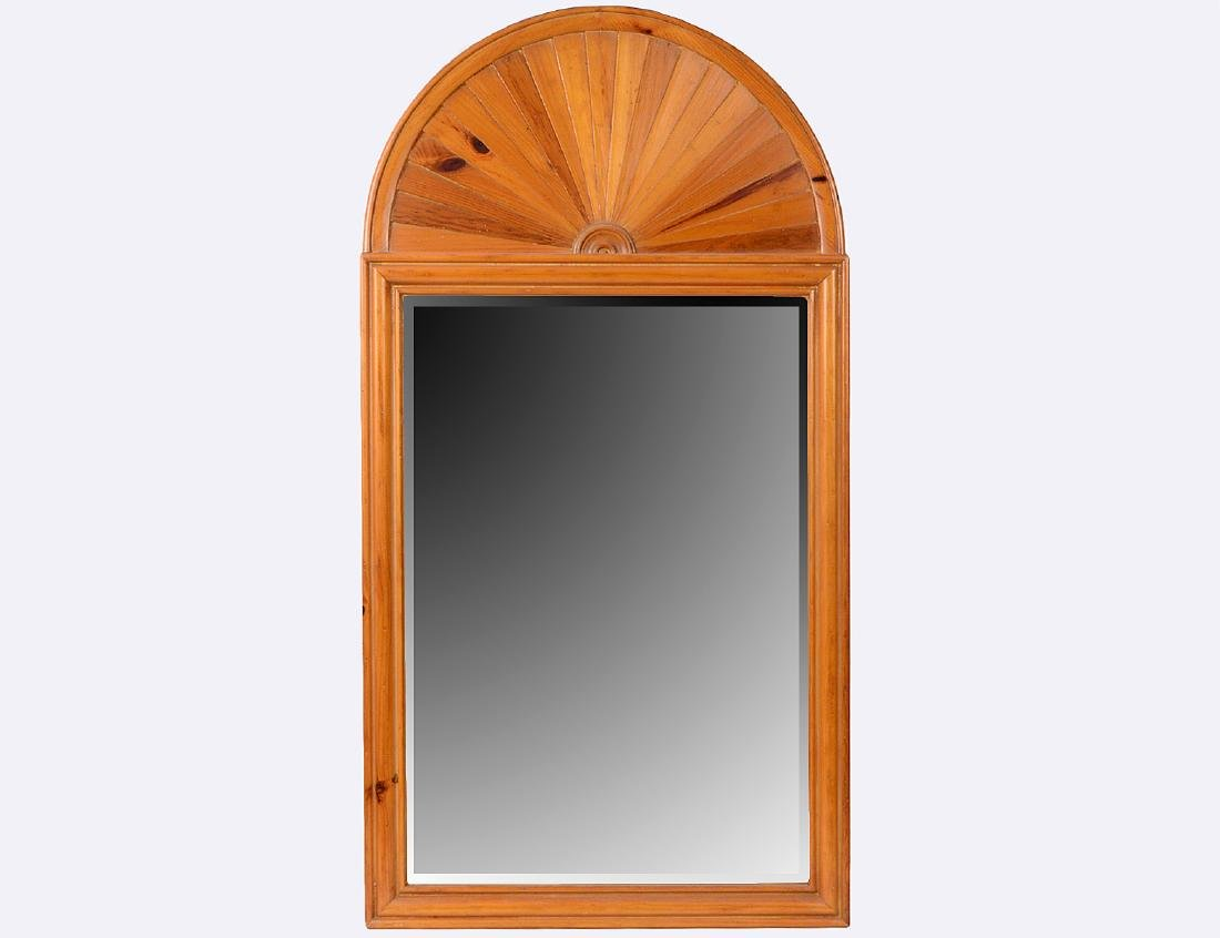 NEO-CLASSICAL STYLE RED PINE PIER MIRROR