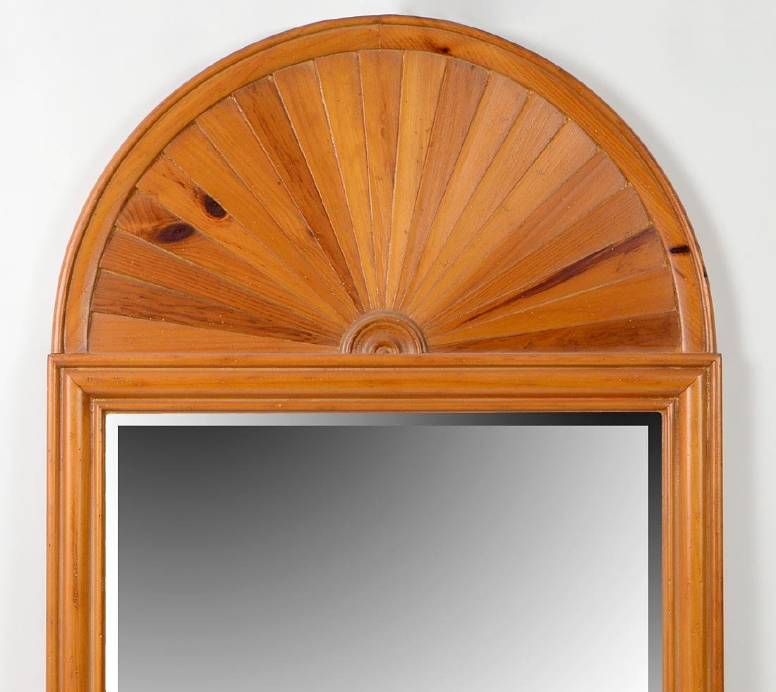 NEO-CLASSICAL STYLE RED PINE PIER MIRROR - 2