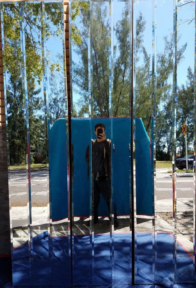 CONTEMPORARY SIX FOLD MIRRORED SCREEN