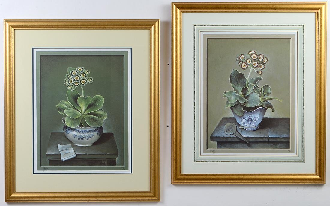 NINE OFFSET LITHOGRAPHS OF POTTED FLOWERS - 7