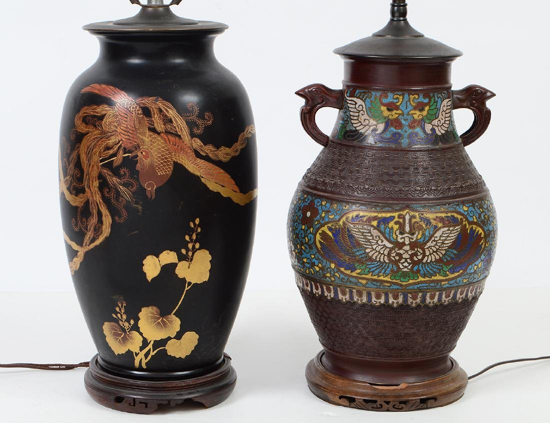 TWO CHINESE LAMPS