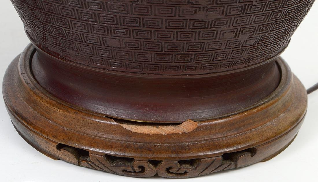 TWO CHINESE LAMPS - 5