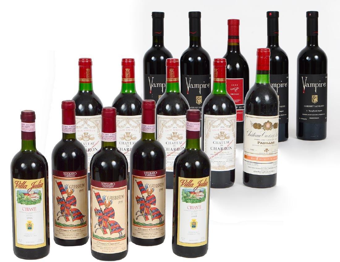 SIXTEEN VARIED BOTTLES OF RED WINE