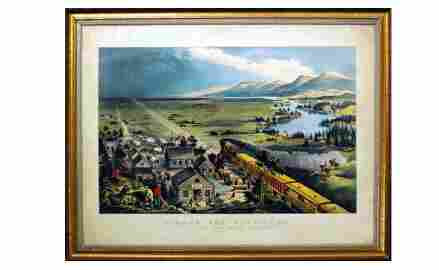 """138:  Currier & Ives """"Across The Continent"""" Colored"""