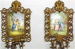 291 Pair of Exquisite Antique SevresStyle HandP