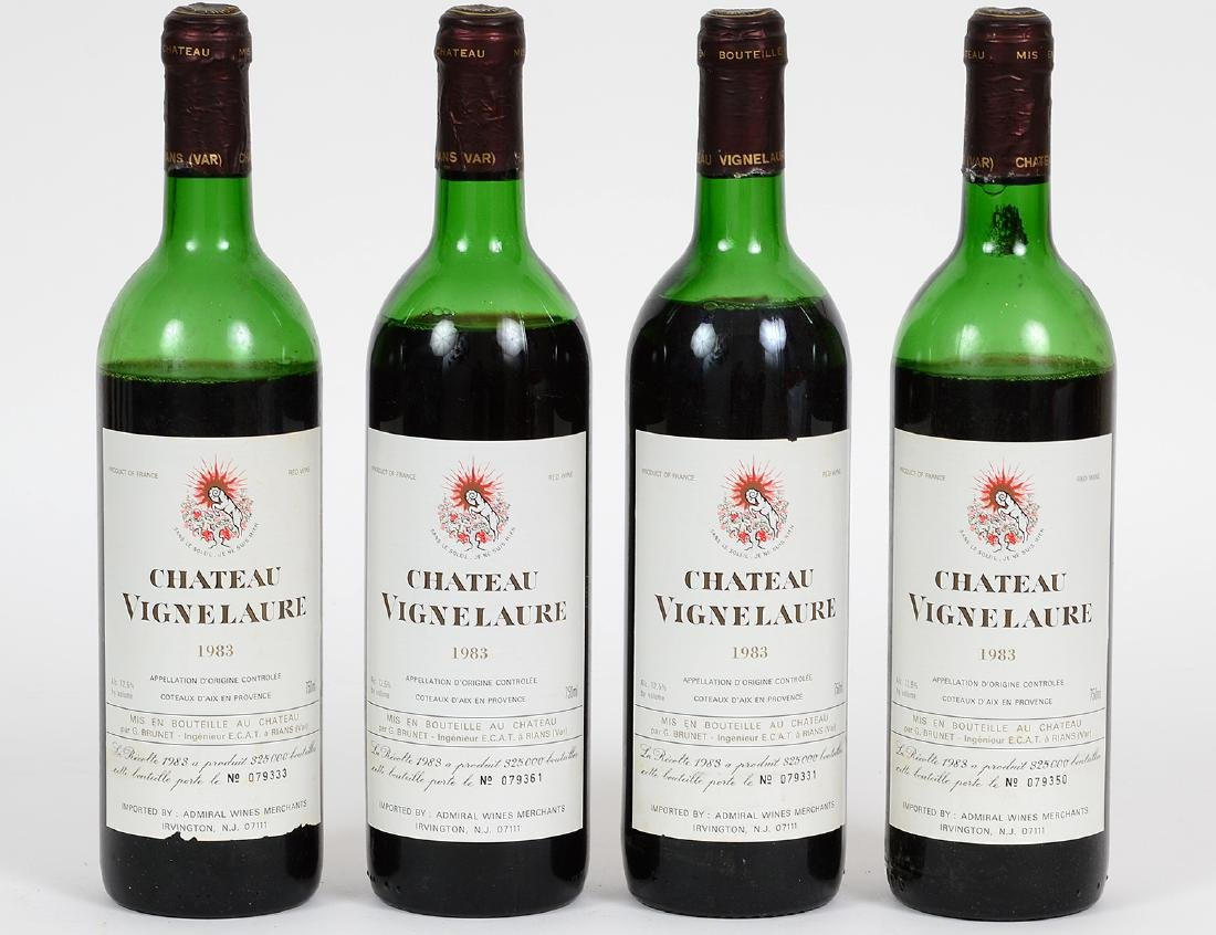 FOUR VINTAGE FRENCH 1983 CHATEAU VIGNE LAURE RED WINE