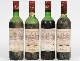 FOUR VINTAGE FRENCH 1967 COS DESTOURNEL RED WINES