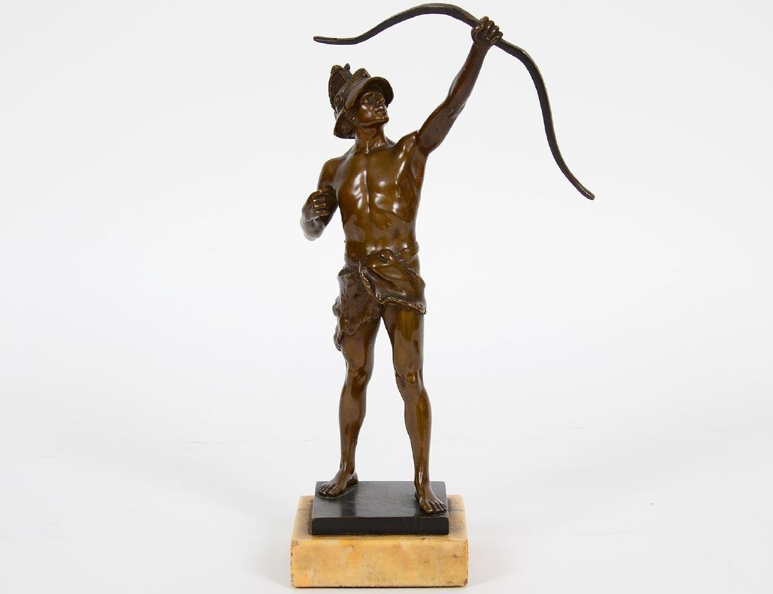 GRAND TOUR PATINATED BRONZE OF AN ARCHER