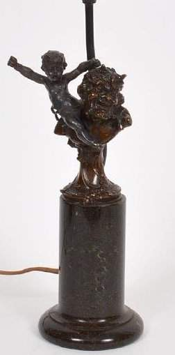 PATINATED BRONZE BUST OF A LAUGHING SATYR