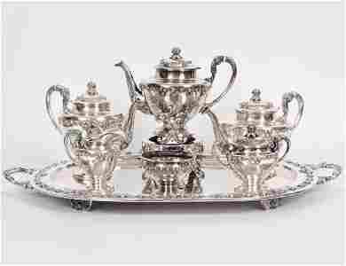 SANBORNS STERLING SILVER SEVEN PIECE TEA & COFFEE SVC