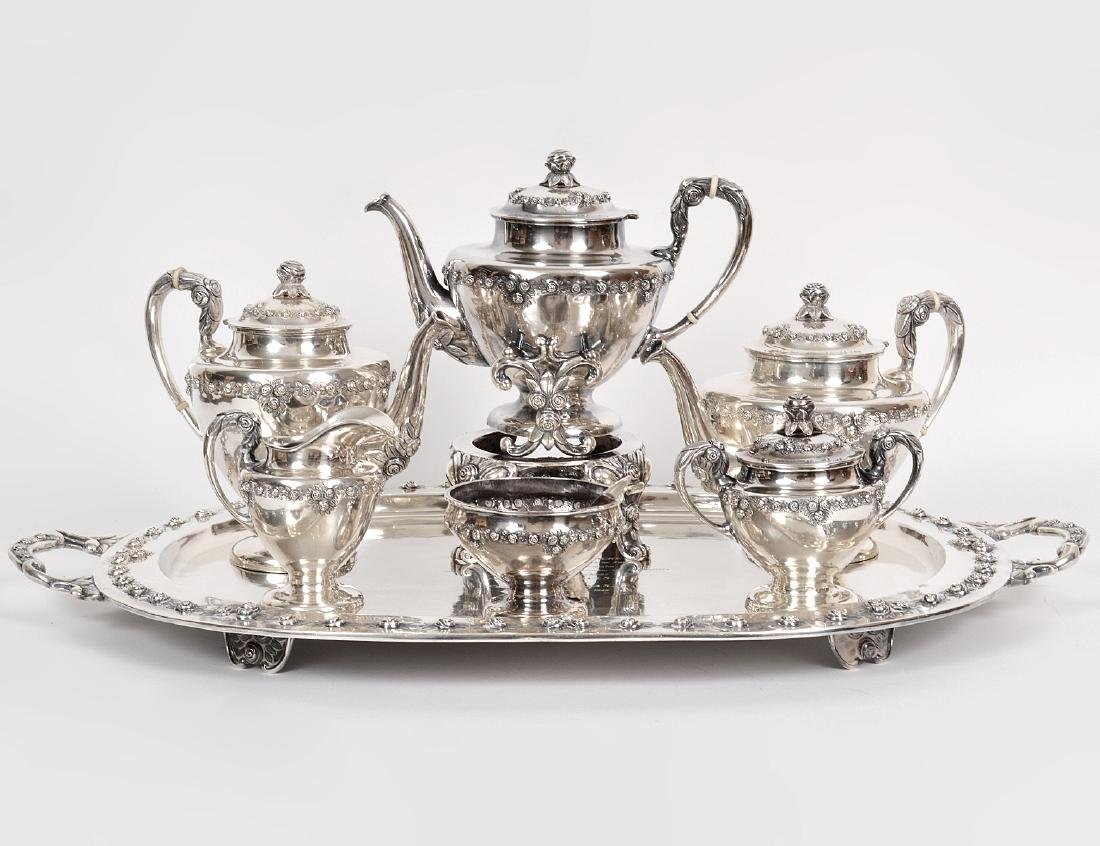 SANBORNS STERLING SILVER SEVEN PIECE TEA & COFFEE SVC