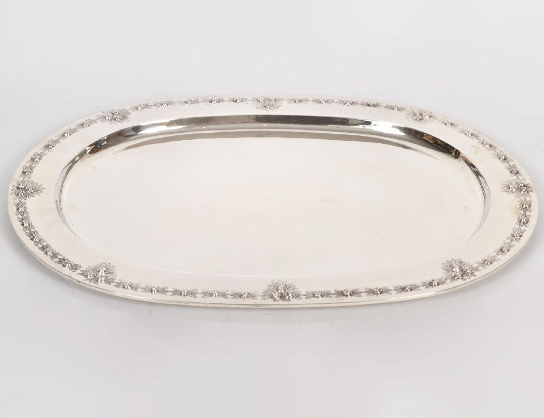 MEXICAN SANBORNS STERLING SILVER OVAL TRAY
