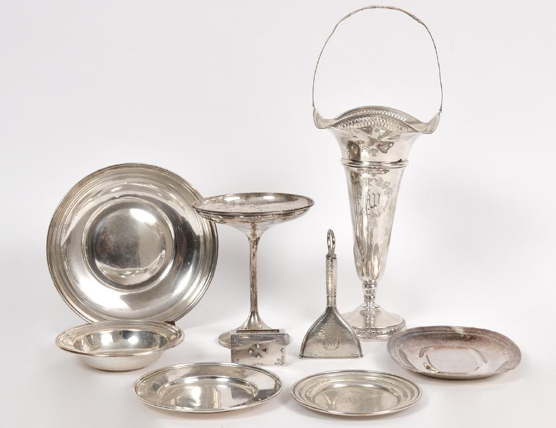 MISCELLANEOUS GROUP OF SILVER TABLE ITEMS