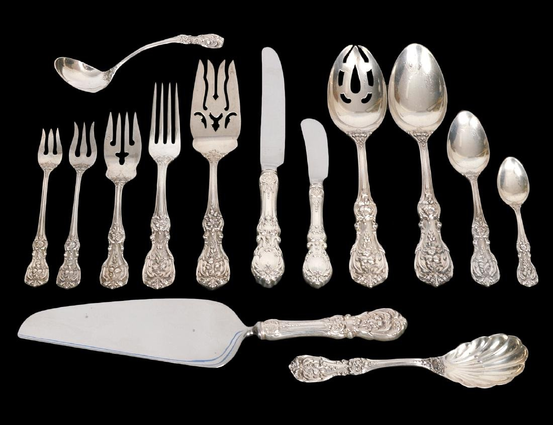 AMERICAN REED & BARTON STERLING PART. FLATWARE SERVICE