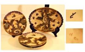 1009: Four Pcs. Continental Majolica Platters
