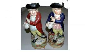 1452: Two English Toby Mugs. AGOPB Will No Longer Ship