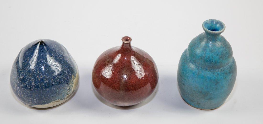 THREE ART POTTERY VESSELS