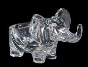 BACCARAT GLASS ELEPHANT FORM BOWL