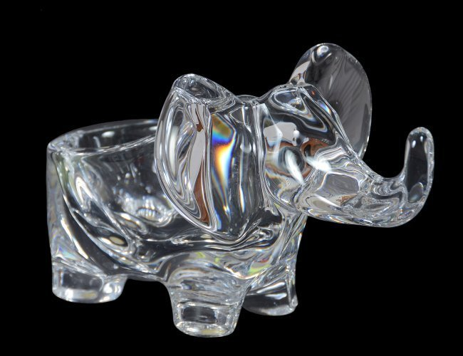 BACCARAT GLASS ELEPHANT FORM BOWL