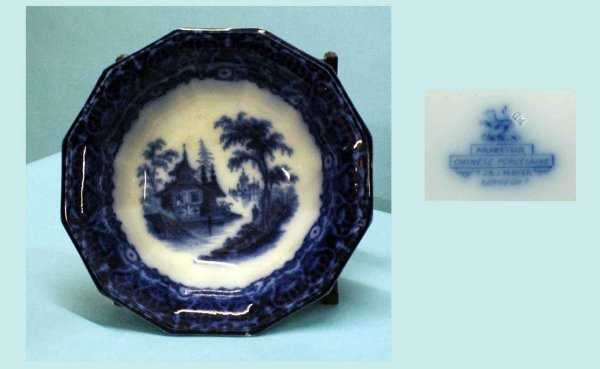 4: Antique T J&J Mayer (Longport, England) Blue & White